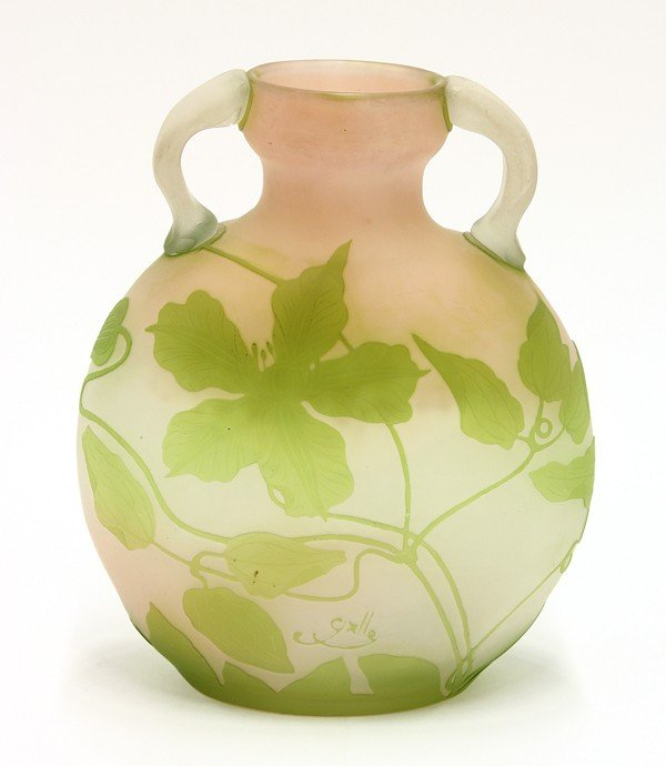 6020: Galle cameo glass vase