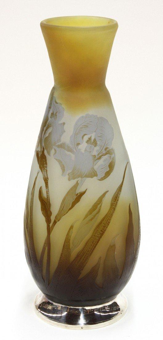 6021: Emile Galle cameo glass vase