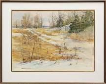 6167: Watercolor, Gerard CF Miller, Spring Thaw