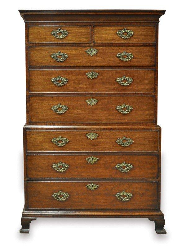 6364: Georgian chest on chest