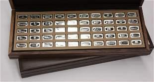 6550: Franklin Mint sterling ingots