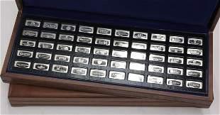 6551: Franklin Mint silver ingots