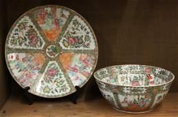 6704 Two Chinese Rose Medallion Porcelains QingRepub