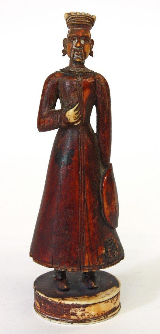 4002: East Indian Painted Ivory Figurine