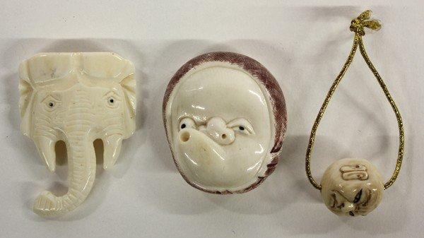4009: Three Ivory Ornaments