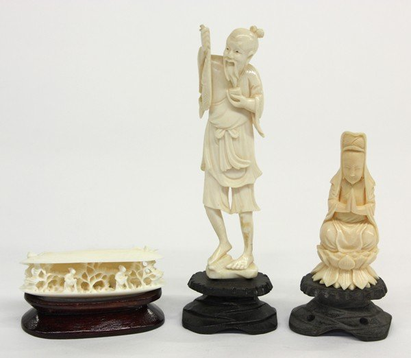 4013: Chinese Ivory Figural Carvings