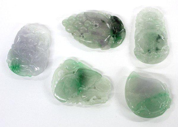 4017: Group of Chinese Jade/Jadeite Pendants
