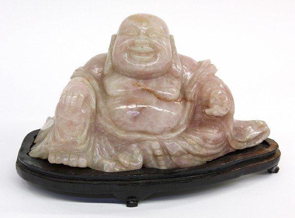 4019: Chinese Rose Quartz Figure