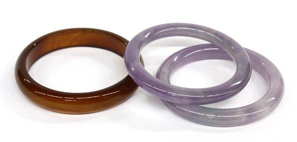 4020: Chinese Hardstone Bangle Bracelets