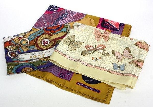 4181: Hermes silk scarves