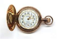 4537 Ladys Waltham gold filled pocket watch