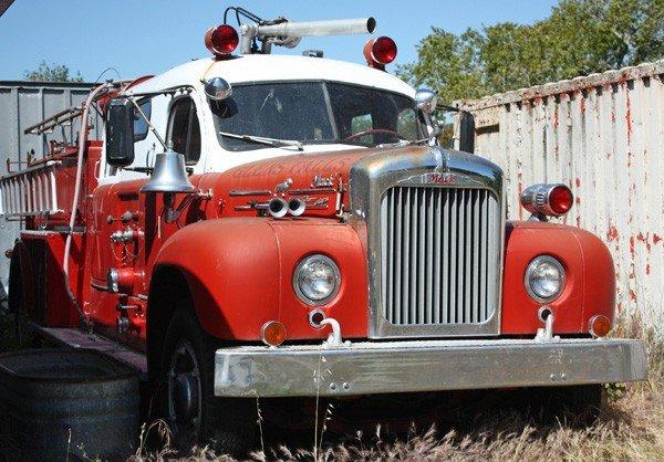 1955: 1958 Mack firetruck