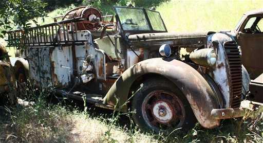 1965: 1936 Diamond T Firetruck on LiveAuctioneers