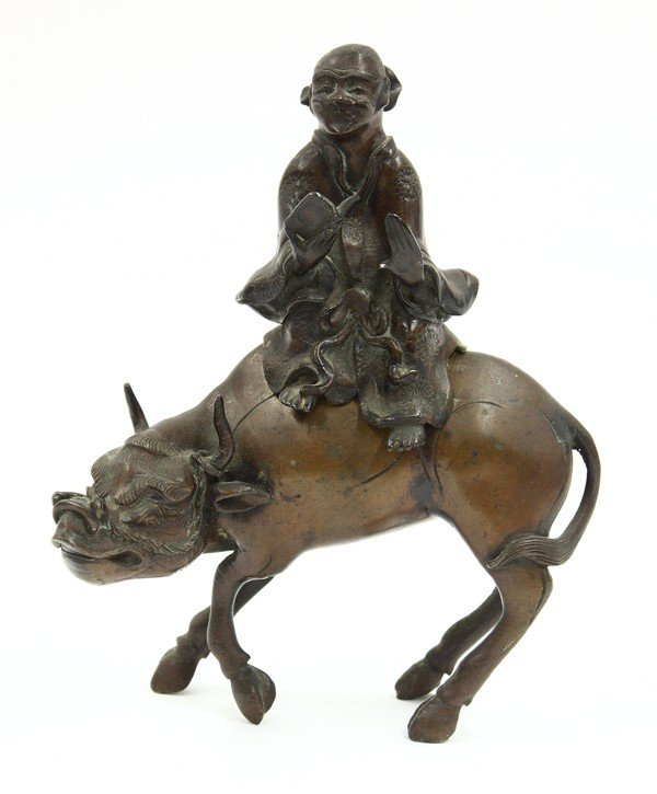 20: Chinese Patinated Bronze Figural Group