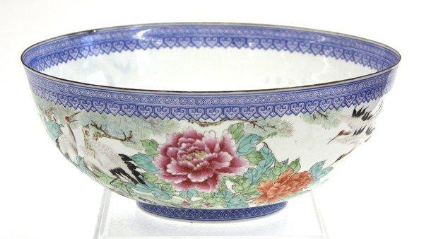 22: Chinese Enameled Eggshell Porcealin Bowl