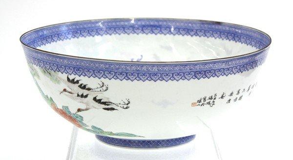 22: Chinese Enameled Eggshell Porcealin Bowl - 2