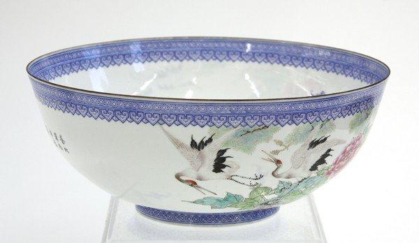 22: Chinese Enameled Eggshell Porcealin Bowl - 3