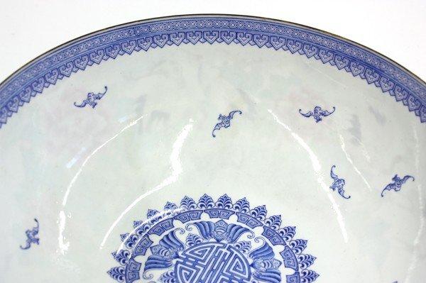 22: Chinese Enameled Eggshell Porcealin Bowl - 5