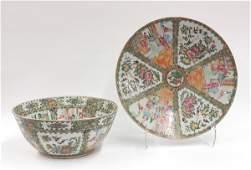 119 Two Chinese Rose Medallion Porcelains QingRepubl