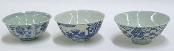 2653: Chinese Porcelain Blue and White Bowls