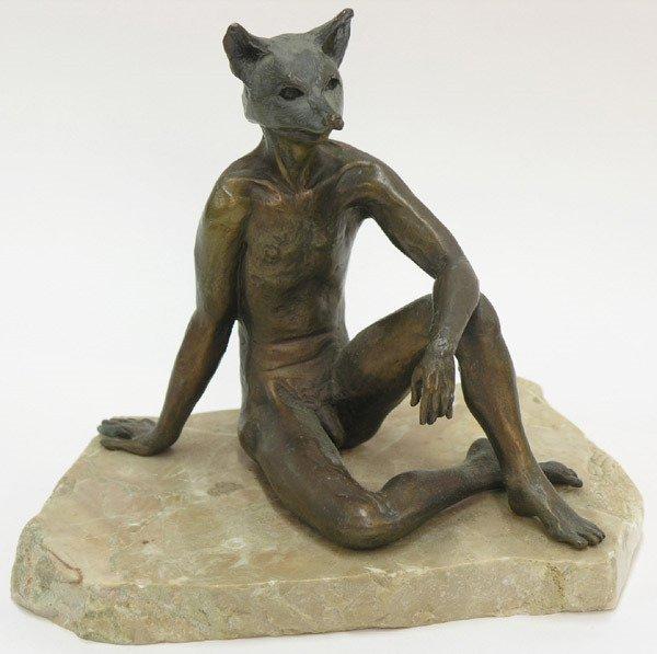 2464: Thom Atkins Phases of Man bronzes