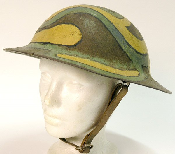 2339: British WWII 8th Army Desert Rat Helmet - 2