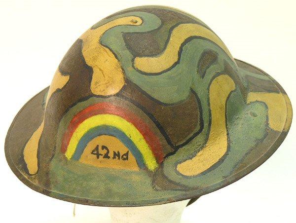 2339: British WWII 8th Army Desert Rat Helmet - 3