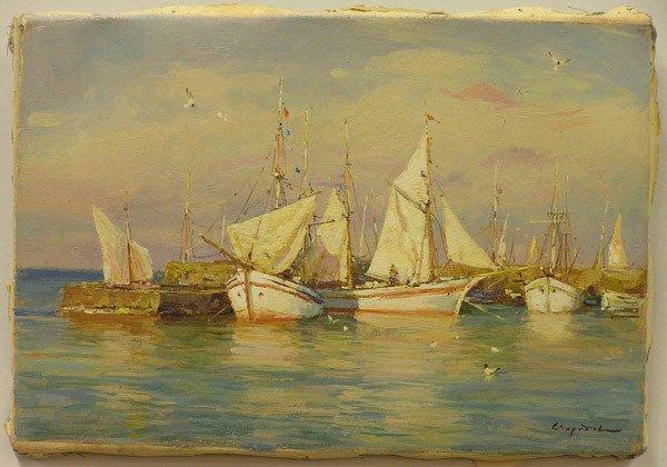 2009: Oil, Mediterranean Harbor, Sviridov