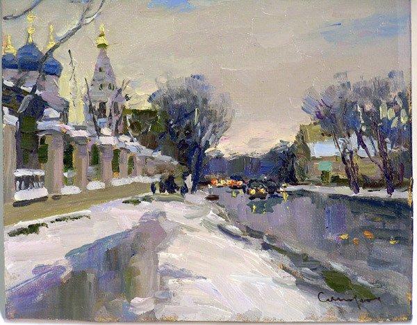 2011: Oil, Winter Landscape, Sergei Sviridov