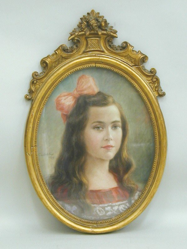 2014: Pastel, French early 20th, Portrait