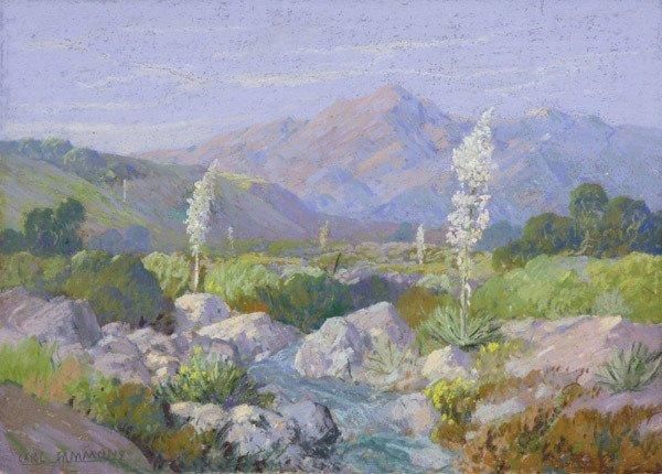 2001: Framed pastel, Desert Scene, Sammons