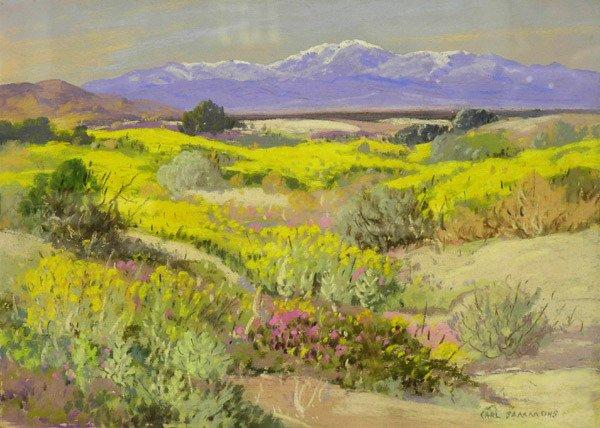 2000: Framed pastel, Desert, Carl Sammons
