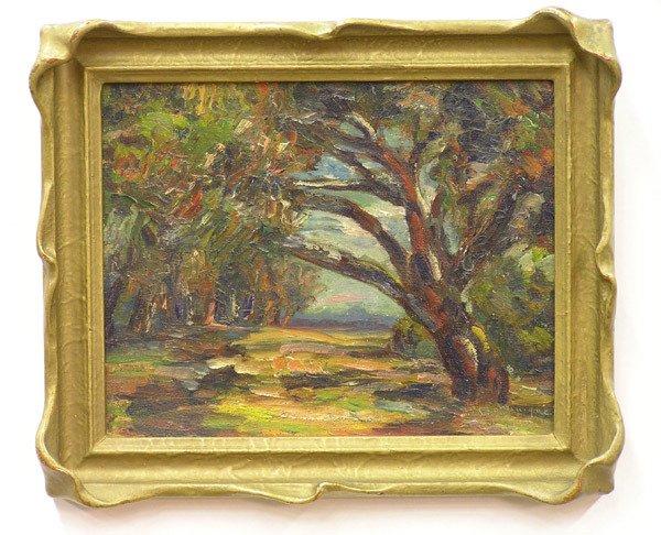 2004: Framed oil, Woods, John Dominique