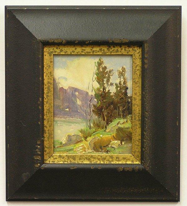2005: Framed oil, Landscape, Wilkinson Smith