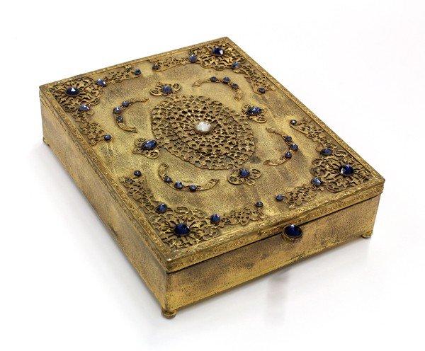 6010: Gilt metal dresser box