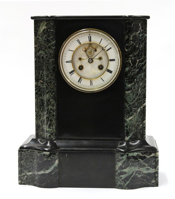 6013: French marble mantle clock