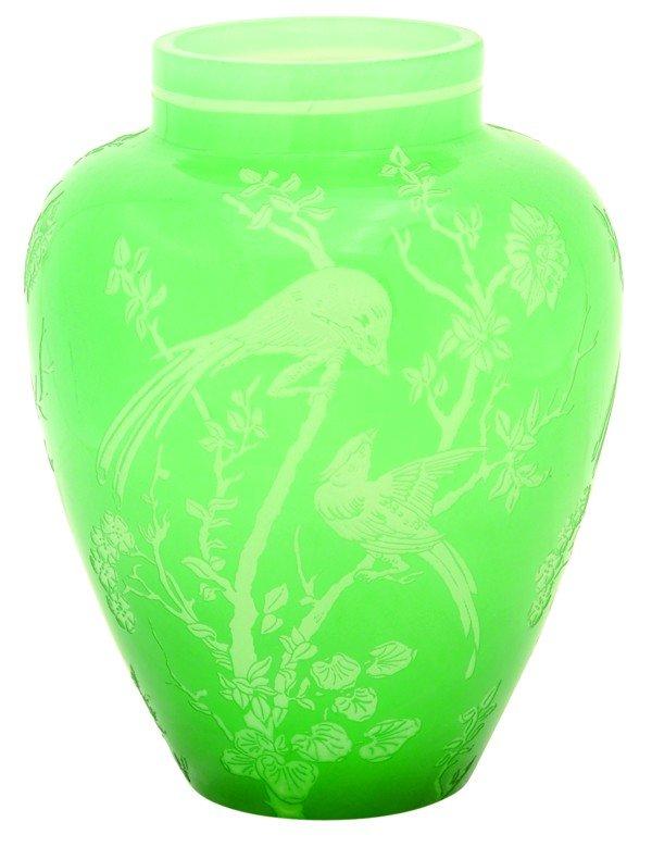 6014: Steuben acid cut vase