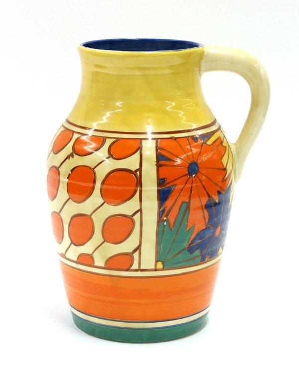 6019: Clarice Cliff lotus jug