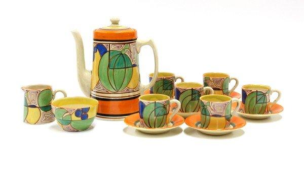 6020: Clarice Cliff coffee set