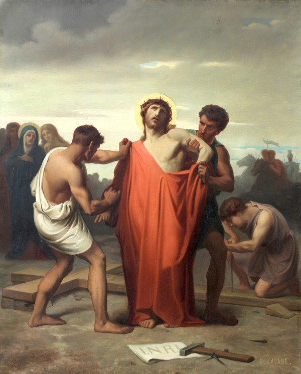 6213: Painting, Edouard Cabane, Stations of the Cross - 10