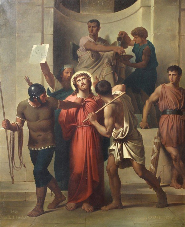 6213: Painting, Edouard Cabane, Stations of the Cross
