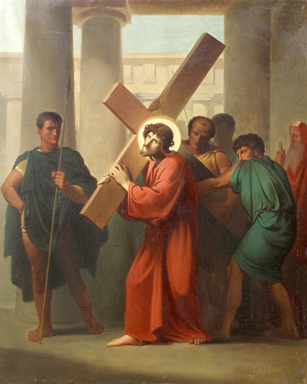 6213: Painting, Edouard Cabane, Stations of the Cross - 2