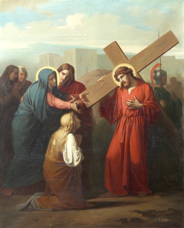 6213: Painting, Edouard Cabane, Stations of the Cross - 4