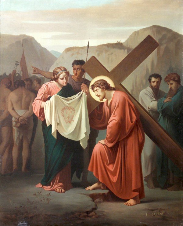 6213: Painting, Edouard Cabane, Stations of the Cross - 6