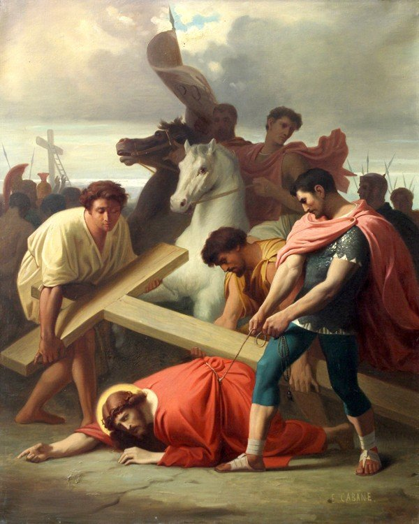 6213: Painting, Edouard Cabane, Stations of the Cross - 7