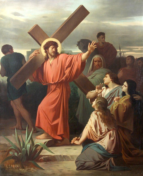 6213: Painting, Edouard Cabane, Stations of the Cross - 9