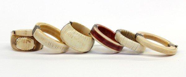 4000: East Indian Ivory Bangle Bracelets