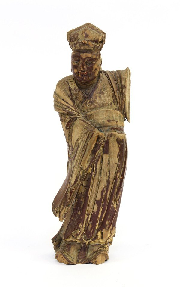 4002: Chinese Lacquered Figural Wood Carving