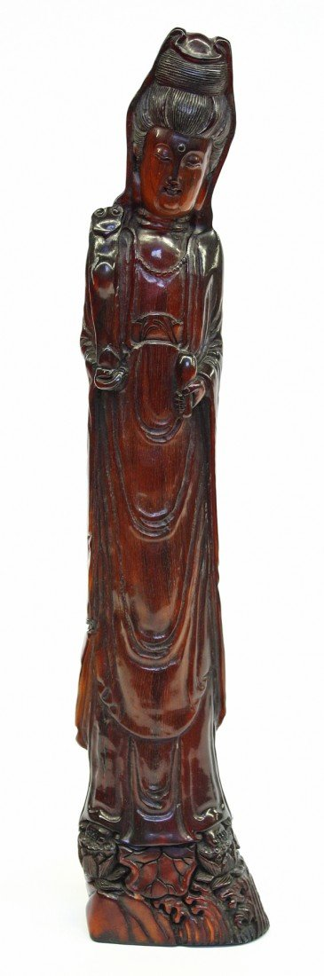 4012: Chinese Horn Carving of Guanyin