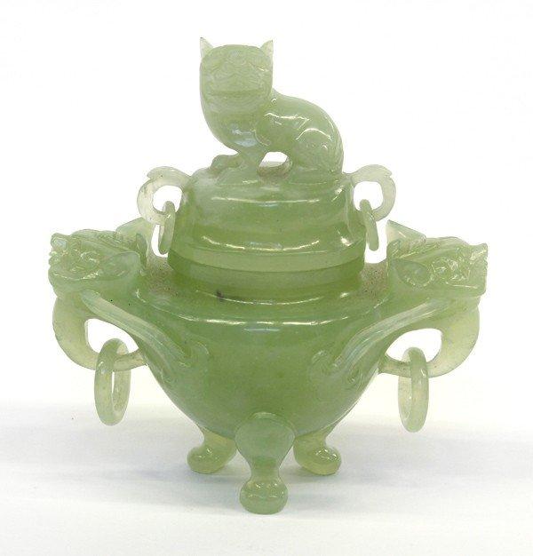4016: Chinese Green Stone Censer